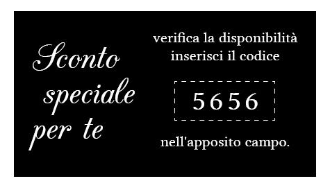 sconto speciale codice 5656